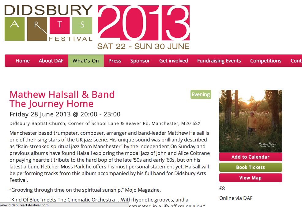 Matthew Halsall @ Didsbury Arts Festival