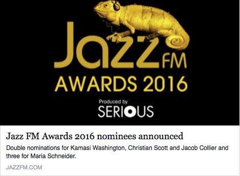 Matthew Halsall Jazz FM Awards 2016
