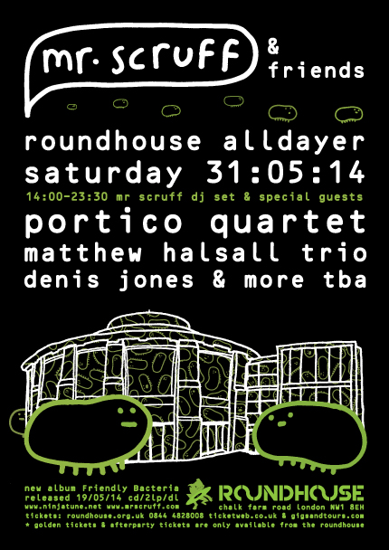 Mr Scruff Roundhouse takeover feat Matthew Halsall, Denis Jones and Portico Quartet